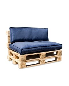 In The Mood Palletkussenset Royal Velvet Royal Blue